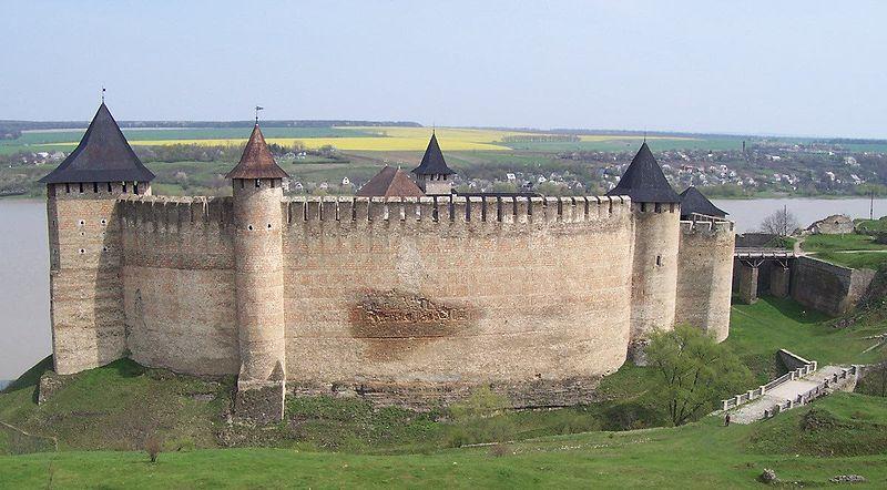 Citadelle de Hotin, aujourd'hui en Ukraine