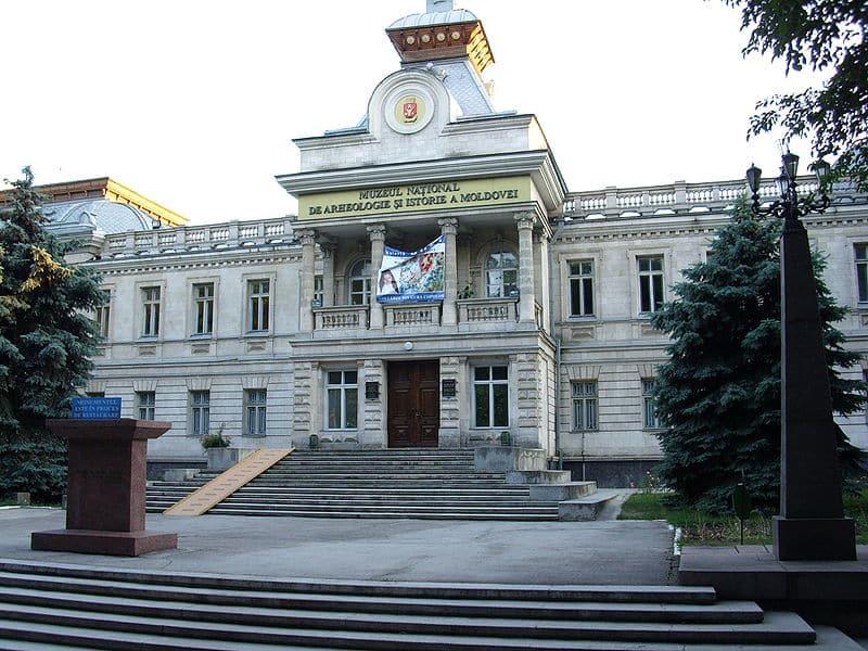 Musée d'histoire, à Chișinău, d'où les russophones ont enlevé la statue de la louve romaine, symbole de la latinité des Moldaves
